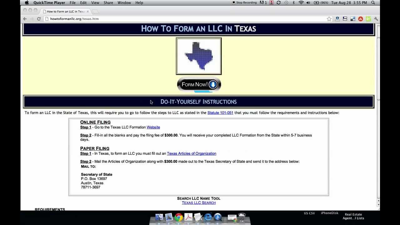 How to Form an LLC in Texas - YouTube