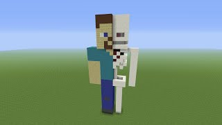 Minecraft Tutorial: How To Build A Steve Anatomy Statue