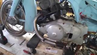 Part 1 of rebuilding a 1964 Honda Benly