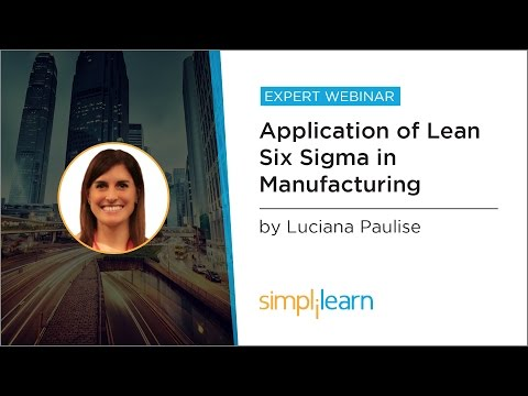 Application Of Lean Six Sigma In Manufacturing | Simplilearn Webinar