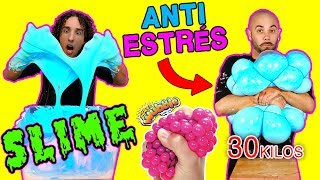 Pelota GIGANTE ANTIESTRES con SLIME FLUFFY - LOS RULES
