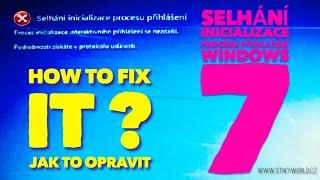 Win7 - Selhání inicializace procesu přihlášení