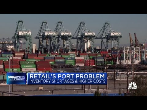 93% of retailers experience inventory shortages from port congestion