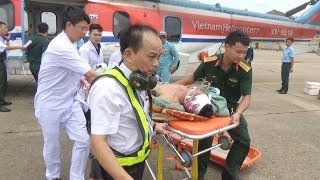 Trực thăng bay xuyên đêm ra Trường Sa cứu 2 ngư dân không may gặp nạn lúc đánh cá