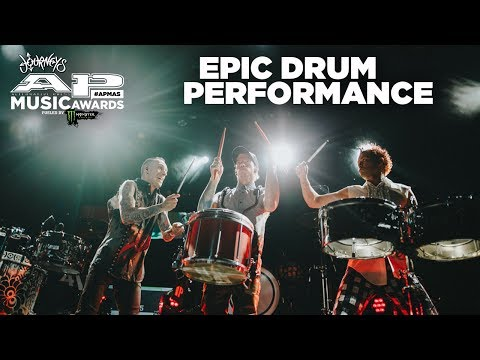 APMAs 2017 EPIC Drum Moment with JOSH DUN, ADRIAN YOUNG and FRANK ZUMMO