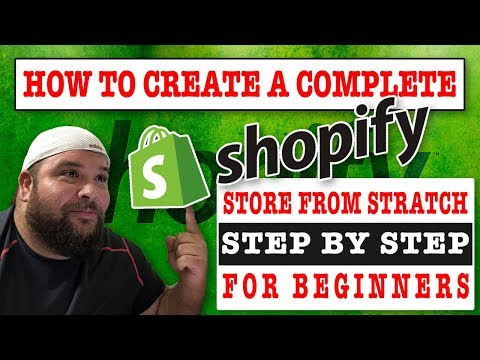 SHOPIFY: Tutorial For Beginners - Create An Online Shopify Store (2018) 🔥