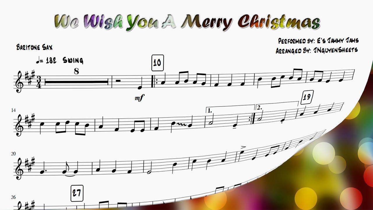 We Wish You A Merry Christmas (Saxophone Sheet Music) - YouTube