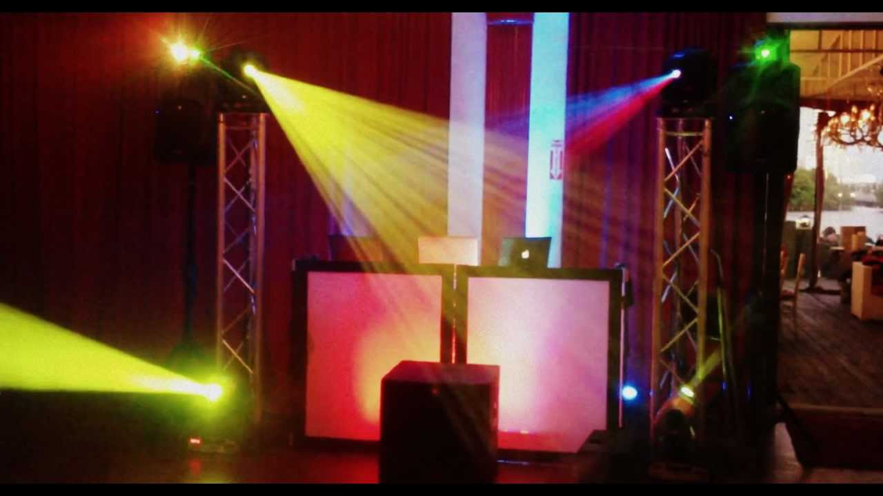 melanies batmitzvah dj setup intelligent lighting youtube. Black Bedroom Furniture Sets. Home Design Ideas