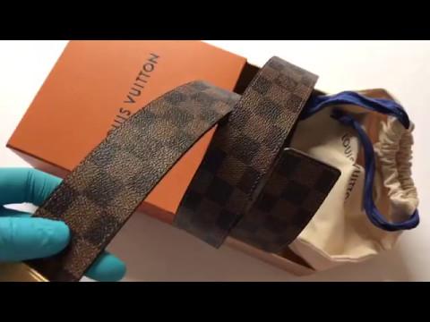 f8bf1a5a827 Louis Vuitton Reversible Inventeur belt unboxing - YouTube