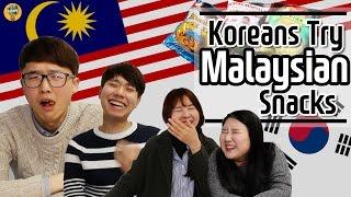 Koreans try Malaysian snacks