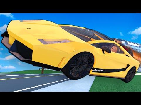 Creating a LAMBORGHINI ROCKET CAR was a MISTAKE! (Roblox Car Crushers 2 Multiplayer)  