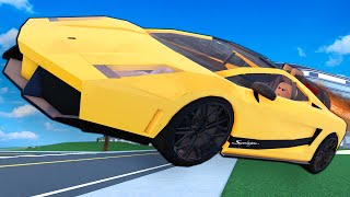 Creating a LAMBORGHINI ROCKET CAR was a MISTAKE! (Roblox Car Crushers 2 Multiplayer)