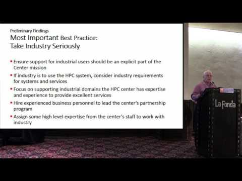 Partnership Between HPC Centers & Industry - Preliminary Findings