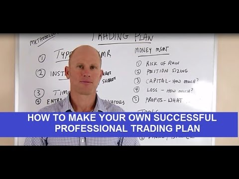 How To Create A Successful Professional Trading Plan