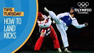 Taekwondo - How to land kicks through blocks | Olympians
