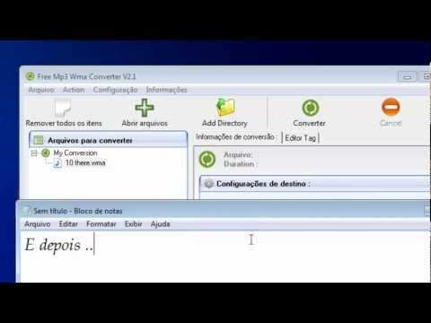 Como Converter Musicas WMA para MP3 - 2013