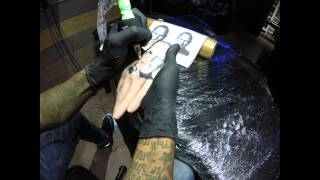 Tattoo Timelapse - Go Pro - Synthetic Hand - Steve Jobs
