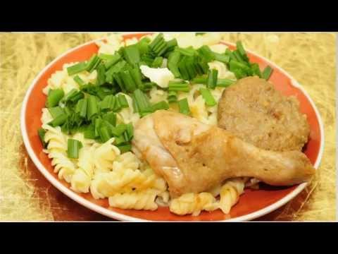 Готовим макароны с мясом на пару под соевым соусом
