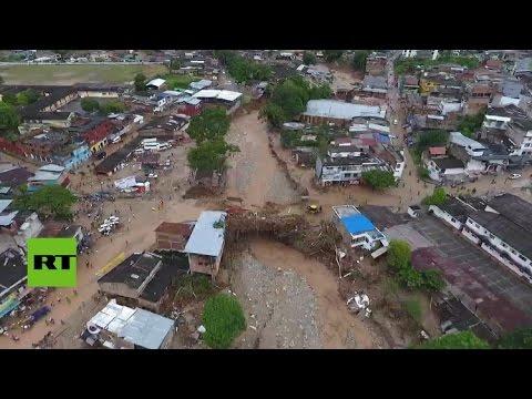 Imágenes tomadas por un dron muestran los estragos causados en Mocoa (Colombia)