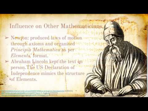 Euclid and His Book: The Elements - UOW