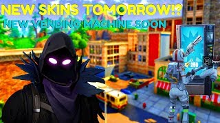 "Fortnite:Battle Royale ""Vending Machine"" Update Coming soon (NEW SKINS Tomorrow?!) 445+ Wins"