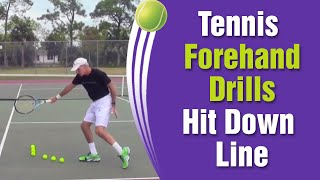 Tennis Forehand Drills - How To Hit Down The Line