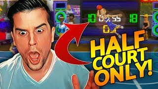 NBA Playgrounds - HALF COURT SHOTS ONLY CHALLENGE!!