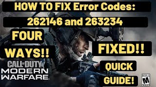 Call Of Duty Modern Warfare Error Code 262146 And 263234 FIXED| Workarounds For Dev Error Codes|