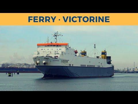 Arrival of ferry VICTORINE in Rotterdam (Cobelfret Ferries)