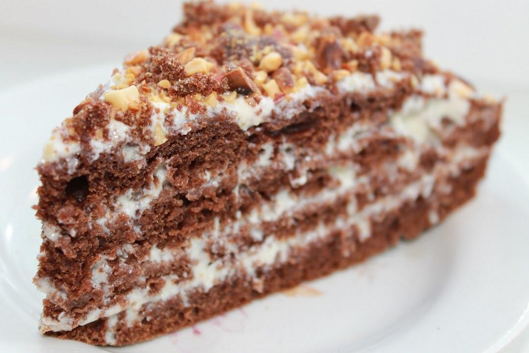 торт шоколадный ореховый рецепт