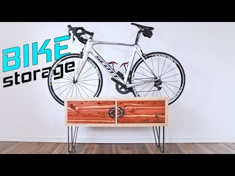 DIY Bike Stand Cabinet | Bicycle Storage Solution for Small Home/Apartment