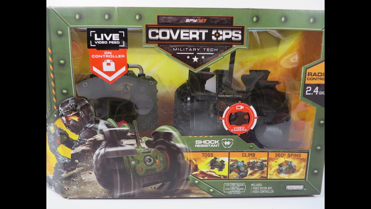 479dd7a4a99d22 Spynet Covert Ops Live Video Recon Bot Unboxing Toy Review Jakks Pacific