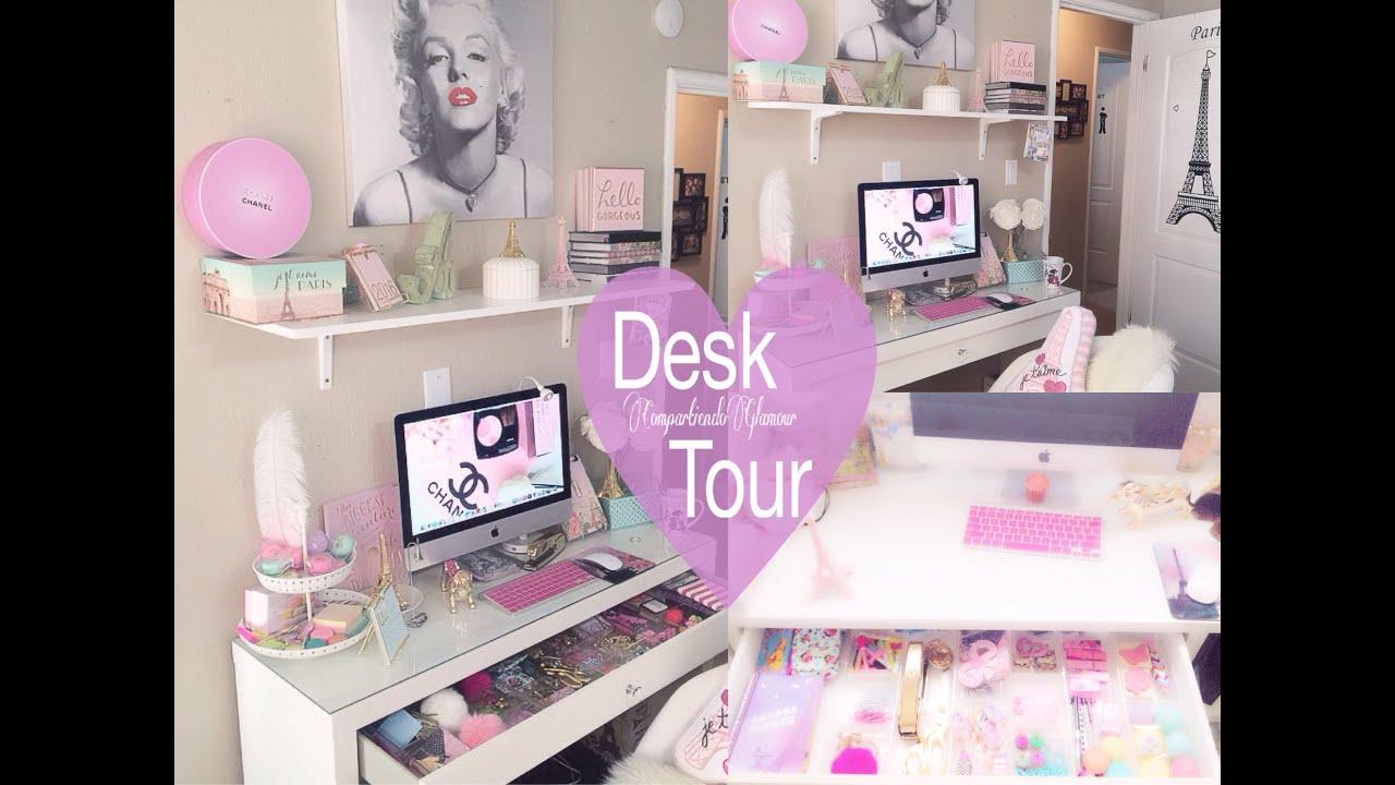 Desk tour que tengo en mi escritorio decor ideas 2018 for Como decorar mi escritorio de trabajo