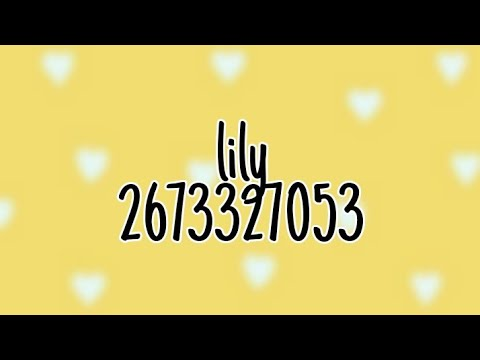 Roblox Music Code Lily Alan Walker K 391 Emelie Hollow