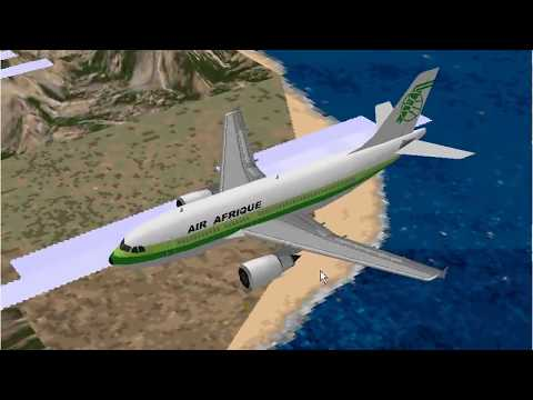Microsoft Flight Simulator 98 | Entebbe to Nairobi | Air Afrique A310
