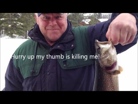 Ice Fishing For Lake Trout In Parry Sound
