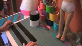 How to make a duct tape skirt for your AG dolls (part 1)