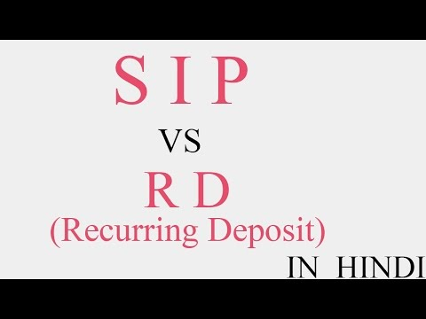 SIP vs RD | Systematic Investment PLAN vs Recurring Deposit | Explained in Hindi