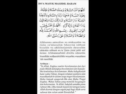 Doa Masuk Masjidil Haram.