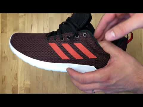 Adidas Cloudfoam Lite Racer CLN 'redcblack'   UNBOXING & ON
