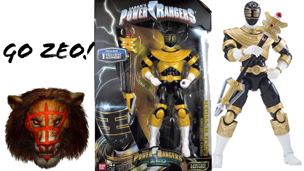 POWER RANGERS LEGACY COLLECTION GOLD RANGER ZEO LIMITED EDITION