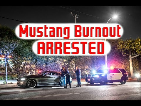 Mustang Does Burnout In Front Of Police, Immediately Arrested!