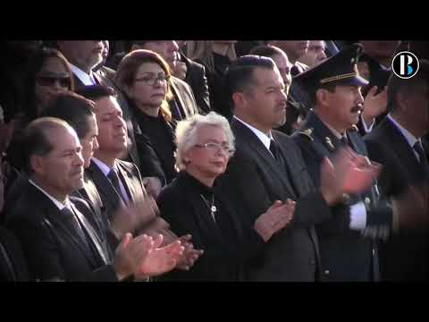 Despiden a la gobernadora y el senador mexicanos en un politizado funeral de Estado