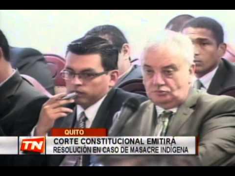 Corte Constitucional emitirá resolución en caso de masacre indígena