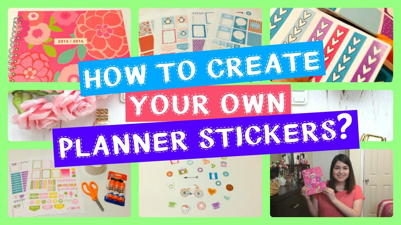 Diy how to create your own planner stickers youtube for Create my own planner