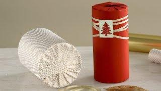 How to Wrap a Cylinder-Shaped Gift- Martha Stewart