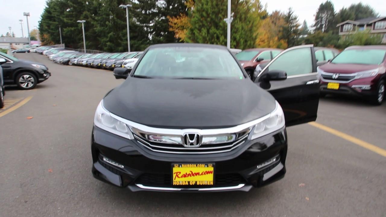 2016 Honda Accord Ex L Crystal Black Ga043151 Seattle On