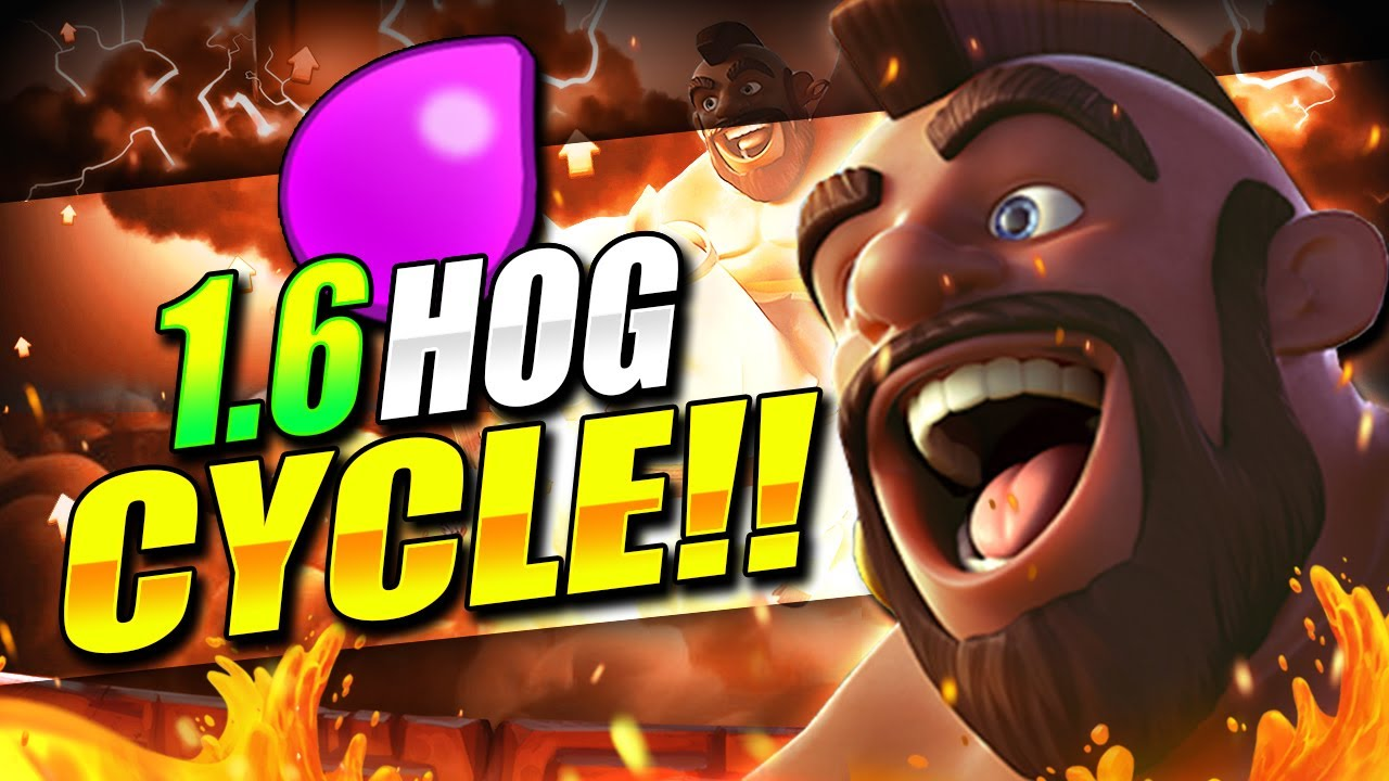 Download 1.6 ELIXIR! FASTEST HOG CYCLE DECK IN CLASH ROYALE EVER!! THIS IS INSANE!! 😱