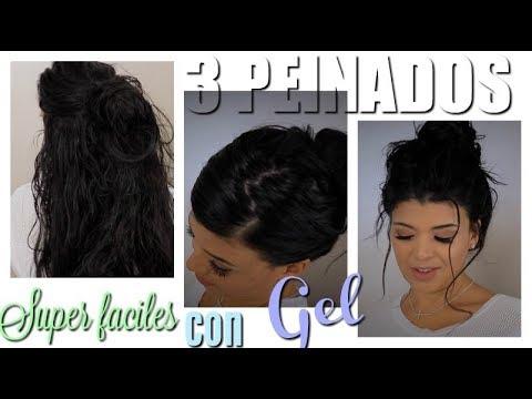 Peinados recogidos con pelo mojado
