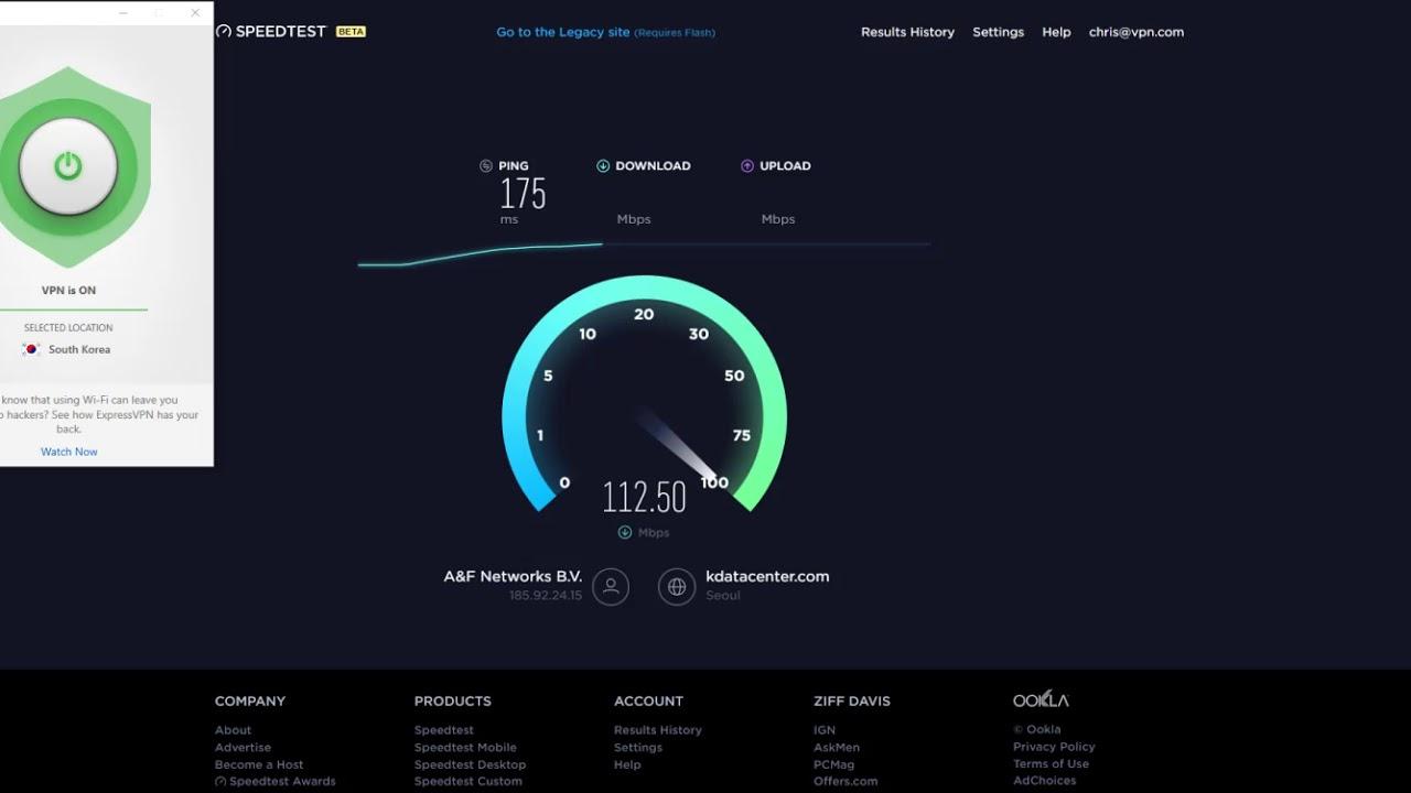 ExpressVPN Speed Test - Seoul, South Korea VPN Server 2017/09/25